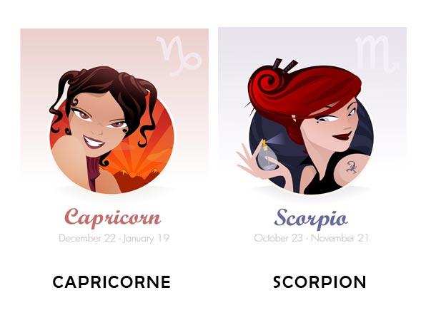 Compatibilité amoureuse entre Capricorne et Scorpion