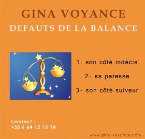 Balance defauts
