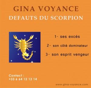 Scorpion defauts